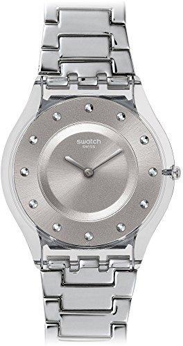 スウォッチ 腕時計 レディース SFK393G Swatch Skin Quartz Movement Silver Dial Ladies Watch SFK393Gスウォッチ 腕時計 レディース SFK393G