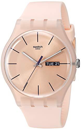 スウォッチ 腕時計 メンズ SUOT700 【送料無料】Swatch New Gent Coloured Quartz Silicone Strap, Pink, 20 Casual Watch (Model: SUOT700)スウォッチ 腕時計 メンズ SUOT700