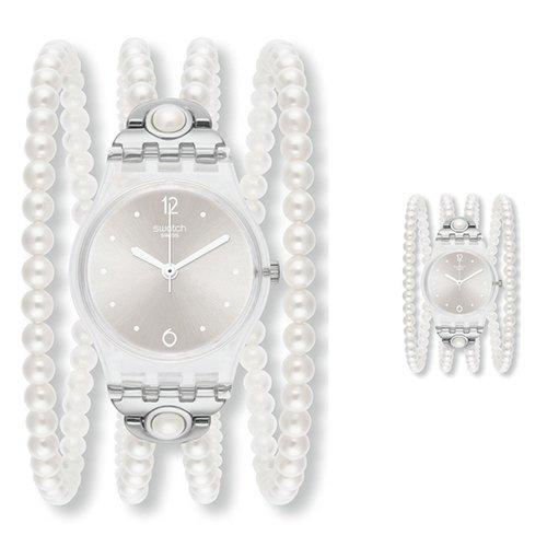 スウォッチ 腕時計 レディース LK336 Swatch LK336 Prohibition Silverish Grey Dial White Pearl Plastic Women Watch NEWスウォッチ 腕時計 レディース LK336