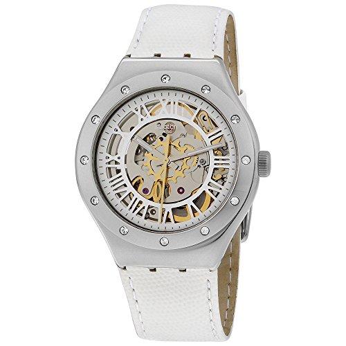 スウォッチ 腕時計 レディース YAS109 Swatch Skeleton Dial Stainless Steel Leather Quartz Ladies Watch YAS109スウォッチ 腕時計 レディース YAS109