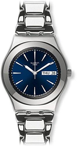 スウォッチ 腕時計 レディース YLS713G Swatch Unisex Analogue Classic Quartz Watch with Stainless Steel Strap YLS713Gスウォッチ 腕時計 レディース YLS713G