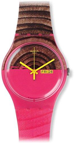 スウォッチ 腕時計 レディース 夏の腕時計特集 GG217 【送料無料】Swatch Women's SUOP703 Pink/Brown Silicone Watchスウォッチ 腕時計 レディース 夏の腕時計特集 GG217