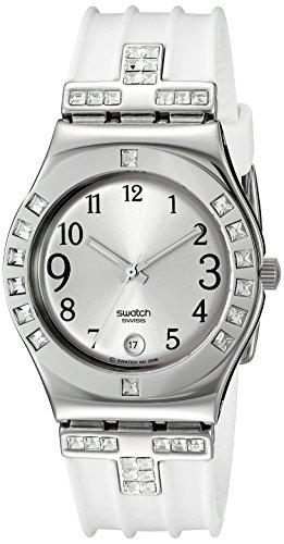スウォッチ 腕時計 レディース YLS430 swatch Women's YLS430 Quartz Silver Dial Stainless Steel Watchスウォッチ 腕時計 レディース YLS430