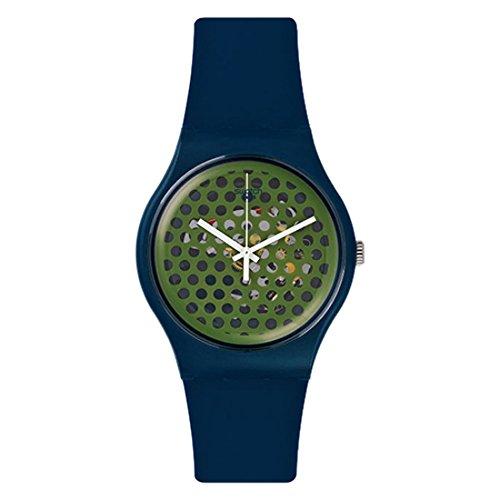 スウォッチ 腕時計 メンズ SUON113 【送料無料】Swatch Buchetti Green Skeleton Dial Plastic Rubber Quartz Men's Watch SUON113スウォッチ 腕時計 メンズ SUON113