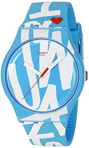 スウォッチ 腕時計 メンズ SUOS103 Swatch Unisex SUOS103 White in Blue Analog Display Quartz Blue Watchスウォッチ 腕時計 メンズ SUOS103