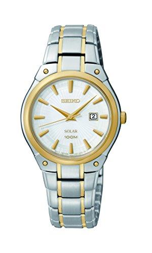 セイコー 腕時計 レディース SUT128 【送料無料】Seiko Women's SUT128 Dress Solar Analog Display Japanese Quartz Two Tone Watchセイコー 腕時計 レディース SUT128
