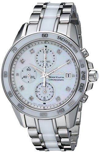 セイコー 腕時計 レディース SNDX95 【送料無料】Seiko Women's SNDX95 Sportura Classic Ceramic Chronograph Watchセイコー 腕時計 レディース SNDX95