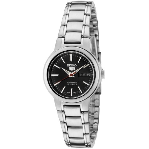 セイコー 腕時計 レディース SYME43 【送料無料】Seiko Women's SYME43 Seiko 5 Automatic Black Dial Stainless Steel Watchセイコー 腕時計 レディース SYME43