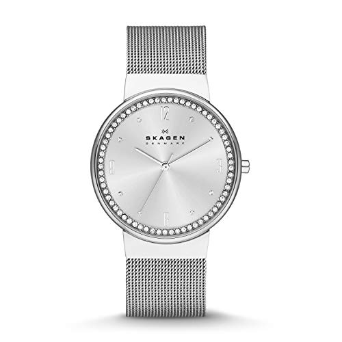 スカーゲン 腕時計 レディース SKW2152 Skagen Women's SKW2152 Ancher Crystal-Accented Stainless Steel Watchスカーゲン 腕時計 レディース SKW2152