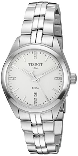 ティソ 腕時計 レディース T1012101103600 【送料無料】Tissot Women's 'Pr 100' Swiss Quartz Stainless Steel Dress Watch, Color:Silver-Toned (Model: T1012101103600)ティソ 腕時計 レディース T1012101103600