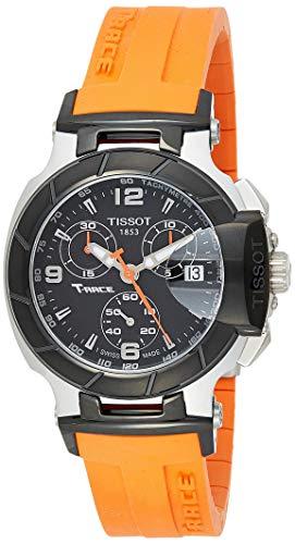 ティソ 腕時計 レディース T0482172705700 【送料無料】Tissot Women's T0482172705700 T-Race Black Chronograph Dial Orange Strap Watchティソ 腕時計 レディース T0482172705700