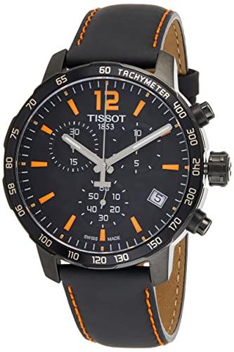 ティソ 腕時計 メンズ T0954173605700 【送料無料】Tissot Men's T0954173605700 Quickster Chronograph Analog-Display Swiss Quartz Black Watchティソ 腕時計 メンズ T0954173605700