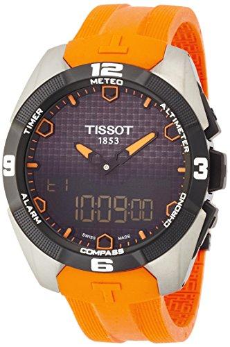 ティソ 腕時計 メンズ T0914204705101 【送料無料】Tissot Men's T0914204705101 Analog-Digital Display Quartz Orange Watchティソ 腕時計 メンズ T0914204705101