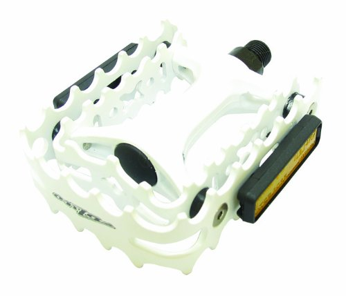 ペダル パーツ 自転車 コンポーネント サイクリング OZPE0001WH Onza VP458A P?dale en alliage Blanc blanc taille uniqueペダル パーツ 自転車 コンポーネント サイクリング OZPE0001WH