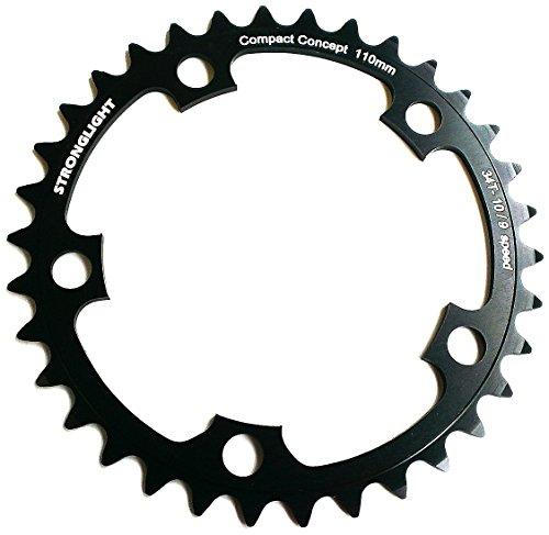 チェーンリング ギア パーツ 自転車 コンポーネント Stronglight Dural 5083 Black 110mm Shimano Compact Chainring - 40T (266052)チェーンリング ギア パーツ 自転車 コンポーネント