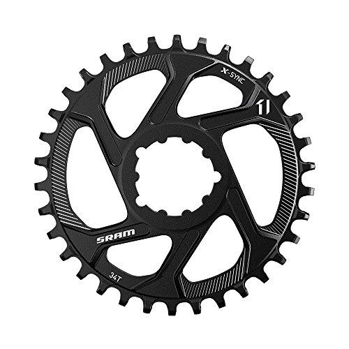 チェーンリング ギア パーツ 自転車 コンポーネント 11.6218.030.070 SRAM Chain Ring X-Sync 12S 34T Dm 3mm Offset, Blackチェーンリング ギア パーツ 自転車 コンポーネント 11.6218.030.070