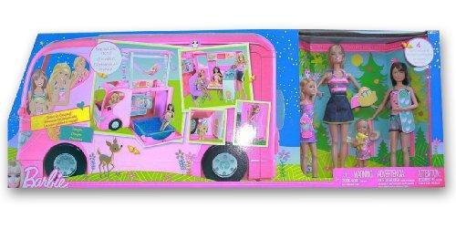 バービー バービー人形 チェルシー スキッパー ステイシー 'Sisters Go Camping' Barbie Camper and 4 Dolls by Mattelバービー バービー人形 チェルシー スキッパー ステイシー