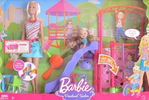 バービー バービー人形 バービーキャリア バービーアイキャンビー 職業 BARBIE I Can Be... PRESCHOOL TEACHER PLAYSET w BARBIE Doll, KELLY Doll, PLAYGROUND SLIDE & SWING & More! (2008)バービー バービー人形 バービーキャリア バービーアイキャンビー 職業