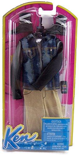 バービー バービー人形 ケン Ken Barbie Fashion Clothing for Ken - Blue Jean Jacket with Khaki Pants and Biker Bootsバービー バービー人形 ケン Ken