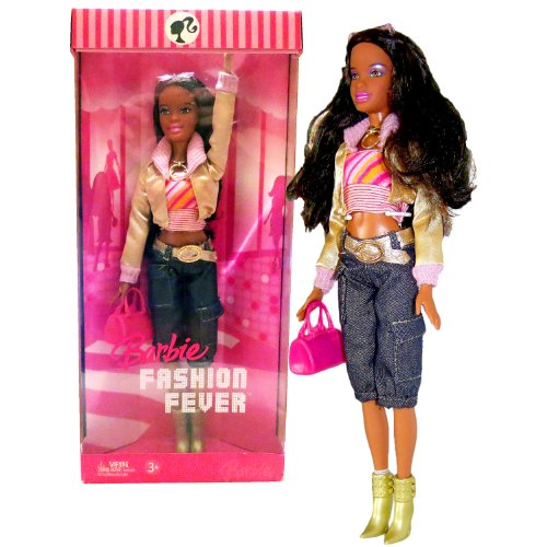 バービー バービー人形 日本未発売 Mattel Year 2006 Barbie Fashion Fever Series 12 Inch Tall Doll Set - Sassy, Smart and Cool NIKKI (K8415) with Pink Tube Tops, Gold Jacket, Denim Pants, Sunglasses, Necklace, Purse and バービー バービー人形 日本未発売