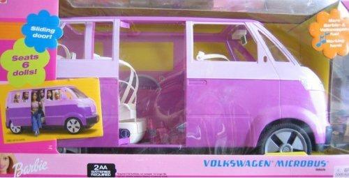バービー バービー人形 日本未発売 プレイセット アクセサリ Barbie VOLKSWAGEN MICROBUS Vehicle VAN (Purple) w Working HORN & SLIDING DOOR - Seats 6 Barbie or 11.5