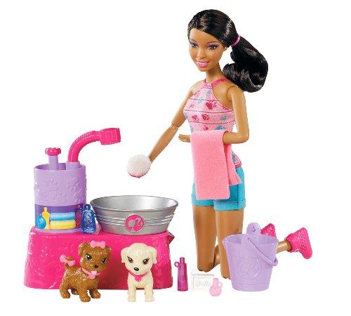 バービー バービー人形 日本未発売 プレイセット アクセサリ W3154 Barbie Suds and Hugs Pups African-American Doll Playsetバービー バービー人形 日本未発売 プレイセット アクセサリ W3154