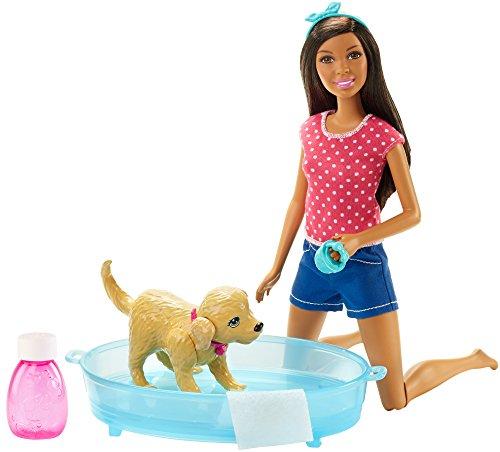 バービー バービー人形 日本未発売 プレイセット アクセサリ DHB67 Barbie Splish Splash Pup Playset African-Americanバービー バービー人形 日本未発売 プレイセット アクセサリ DHB67