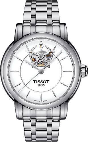 ティソ 腕時計 レディース 【送料無料】Tissot Lady Heart Automatic White Dial Stainless Steel Ladies Watch T0502071101104ティソ 腕時計 レディース