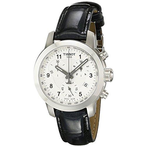 ティソ 腕時計 レディース T0552171603202 Tissot T055.217.16.032.02 Silver Dial Leather Strap Ladies Watchティソ 腕時計 レディース T0552171603202