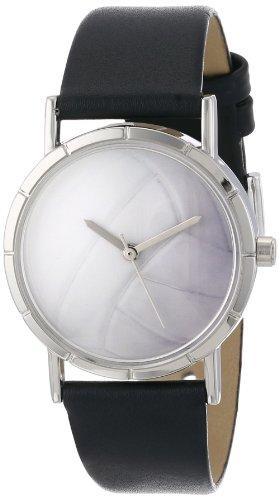 気まぐれな腕時計 かわいい プレゼント クリスマス ユニセックス R0840015 【送料無料】Whimsical Watches Kids' R0840015 Classic Volleyball Lover Black Leather And Silvertone Photo気まぐれな腕時計 かわいい プレゼント クリスマス ユニセックス R0840015