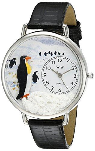 気まぐれな腕時計 かわいい プレゼント クリスマス ユニセックス WHIMS-U0140006 【送料無料】Whimsical Watches Unisex U0140006 Penguin Black Skin Leather Watch気まぐれな腕時計 かわいい プレゼント クリスマス ユニセックス WHIMS-U0140006