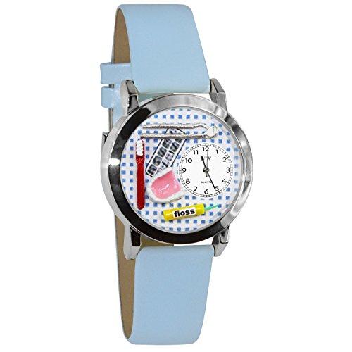 気まぐれな腕時計 かわいい プレゼント クリスマス ユニセックス WHIMS-S0610004 Whimsical Watches Women's S0610004 Dentist Baby Light Blue Leather Watch気まぐれな腕時計 かわいい プレゼント クリスマス ユニセックス WHIMS-S0610004