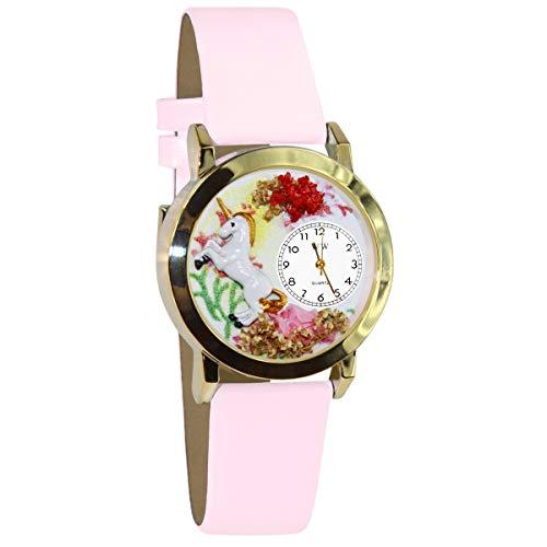 気まぐれな腕時計 かわいい プレゼント クリスマス ユニセックス C0420001 【送料無料】Whimsical Watches Kids' C0420001 Classic Gold Unicorn Pink Leather And Goldtone Watch気まぐれな腕時計 かわいい プレゼント クリスマス ユニセックス C0420001