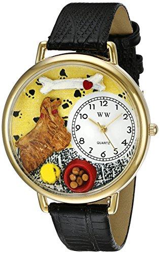気まぐれな腕時計 かわいい プレゼント クリスマス ユニセックス WHIMS-G0130027 【送料無料】Whimsical Watches Unisex G0130027 Cocker Spaniel Black Skin Leather Watch気まぐれな腕時計 かわいい プレゼント クリスマス ユニセックス WHIMS-G0130027