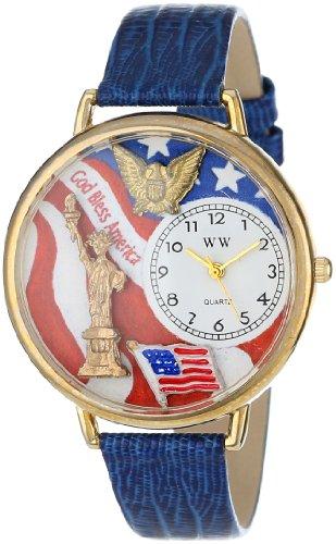 気まぐれな腕時計 かわいい プレゼント クリスマス ユニセックス WHIMS-G1220022 【送料無料】Whimsical Watches Unisex G1220022 July 4th Patriotic Royal Blue Leather Watch気まぐれな腕時計 かわいい プレゼント クリスマス ユニセックス WHIMS-G1220022