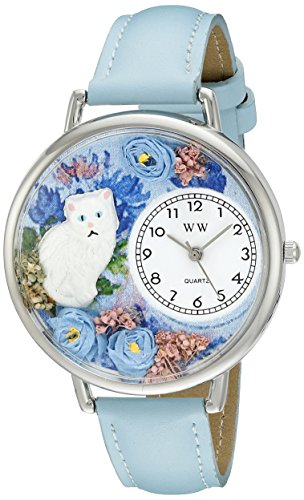 気まぐれな腕時計 かわいい プレゼント クリスマス ユニセックス WHIMS-U0120014 【送料無料】Whimsical Watches Unisex U0120014 White Cat Baby Blue Leather Watch気まぐれな腕時計 かわいい プレゼント クリスマス ユニセックス WHIMS-U0120014