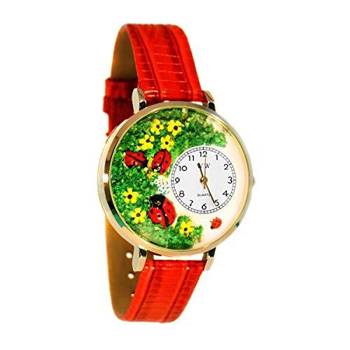 気まぐれな腕時計 かわいい プレゼント クリスマス ユニセックス WHIMS-G1210004 【送料無料】Whimsical Watches Women's G1210004 Lady Bugs Red Leather Watch気まぐれな腕時計 かわいい プレゼント クリスマス ユニセックス WHIMS-G1210004