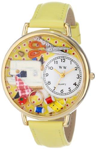 気まぐれな腕時計 かわいい プレゼント クリスマス ユニセックス WHIMS-G0450001 【送料無料】Whimsical Watches Unisex G0450001 Sewing Yellow Leather Watch気まぐれな腕時計 かわいい プレゼント クリスマス ユニセックス WHIMS-G0450001