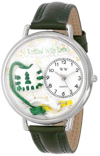 気まぐれな腕時計 かわいい プレゼント クリスマス ユニセックス WHIMS-U0450016 【送料無料】Whimsical Watches Unisex U0450016 Christmas Knitting Hunter Green Leather Watch気まぐれな腕時計 かわいい プレゼント クリスマス ユニセックス WHIMS-U0450016