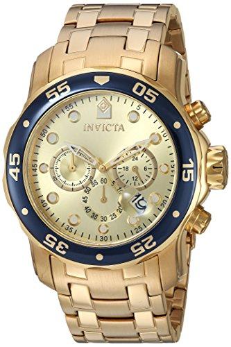 インヴィクタ インビクタ プロダイバー 腕時計 メンズ 80068 【送料無料】Invicta Mens Pro Diver Scuba Swiss Chronograph Champagne Dial 18k Gold Plated Watch 80068インヴィクタ インビクタ プロダイバー 腕時計 メンズ 80068