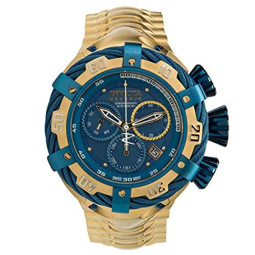 インヴィクタ インビクタ ボルト 腕時計 メンズ Invicta Men's Bolt Gold-Tone Steel Bracelet & Case Swiss Quartz Blue Dial Analog Watch 21361インヴィクタ インビクタ ボルト 腕時計 メンズ