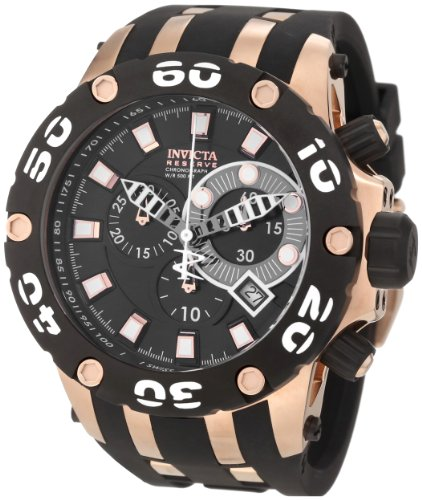 インヴィクタ インビクタ サブアクア 腕時計 メンズ 0918 Invicta Men's 0918 Subaqua Reserve Chronograph Black Dial Black Polyurethane Watchインヴィクタ インビクタ サブアクア 腕時計 メンズ 0918