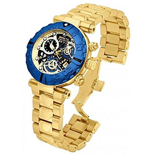 インヴィクタ インビクタ サブアクア 腕時計 メンズ 15021 Invicta Subaqua 15021 47mm Gold Plated Stainless Steel Case Gold Tone Steel Bracelet flame fusion Men's Watchインヴィクタ インビクタ サブアクア 腕時計 メンズ 15021