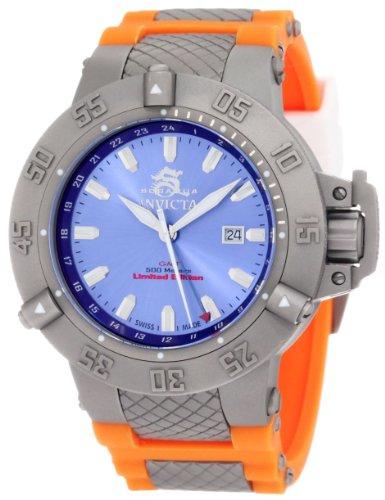 """インヴィクタ インビクタ サブアクア 腕時計 メンズ 1591 【送料無料】Invicta Men""""s 1591 Subaqua Noma III Blue Dial Orange Polyurethane Watchインヴィクタ インビクタ サブアクア 腕時計 メンズ 1591"""