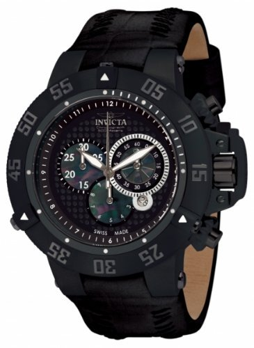 インヴィクタ インビクタ サブアクア 腕時計 メンズ 10200 Invicta Men's 10200 Subaqua III Chronograph Black Perforated Dial Black Leather Watchインヴィクタ インビクタ サブアクア 腕時計 メンズ 10200