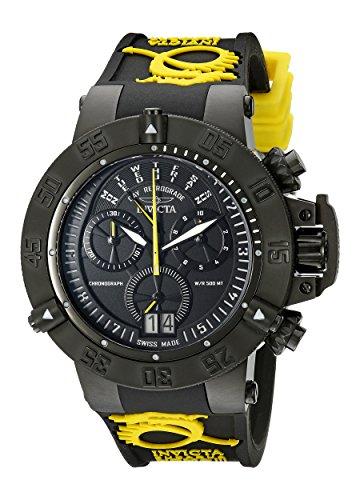 インヴィクタ インビクタ サブアクア 腕時計 メンズ 10185 【送料無料】Invicta Men's 10185 Subaqua Noma III Chronograph Black Dial Watch With Black and Yellow Silicone Strapインヴィクタ インビクタ サブアクア 腕時計 メンズ 10185