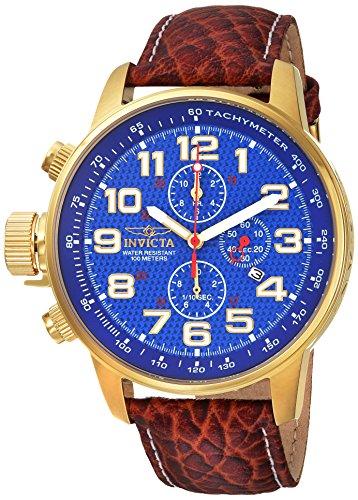 インヴィクタ インビクタ フォース 腕時計 メンズ 90067 Invicta Men's I- I-Force Stainless Steel Analog-Quartz Watch with Leather-Calfskin Strap, Brown, 22 (Model: 90067)インヴィクタ インビクタ フォース 腕時計 メンズ 90067