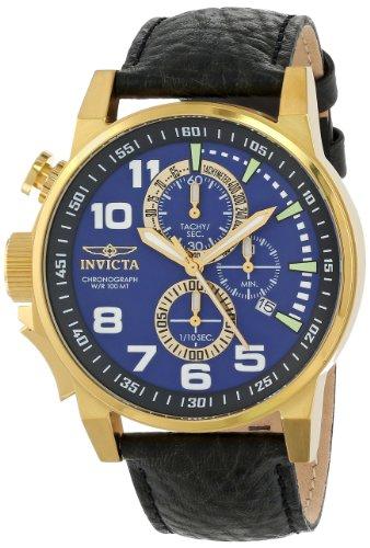 インヴィクタ インビクタ フォース 腕時計 メンズ 13055 Invicta Men's 13055 Force Chronograph Blue Dial Black Leather Watchインヴィクタ インビクタ フォース 腕時計 メンズ 13055