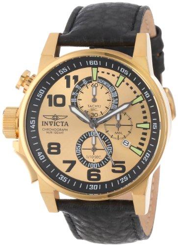 インヴィクタ インビクタ フォース 腕時計 メンズ 14475 Invicta Men's 14475 I-Force Chronograph Gold Dial Black Leather Watchインヴィクタ インビクタ フォース 腕時計 メンズ 14475
