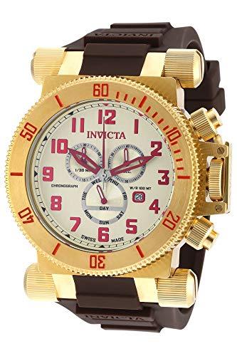 インヴィクタ インビクタ フォース 腕時計 メンズ 18730 【送料無料】Invicta Coalition Forces Chronograph Champagne Dial Brown Polyurethane Mens Watch 18730インヴィクタ インビクタ フォース 腕時計 メンズ 18730